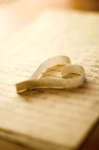 Notebook and Paper Heart