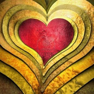 8085402-special-red-heart-on-layers-of-gold-hearts