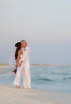 married on the beach