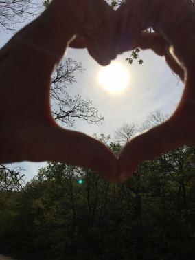 JB & PW picnic heart